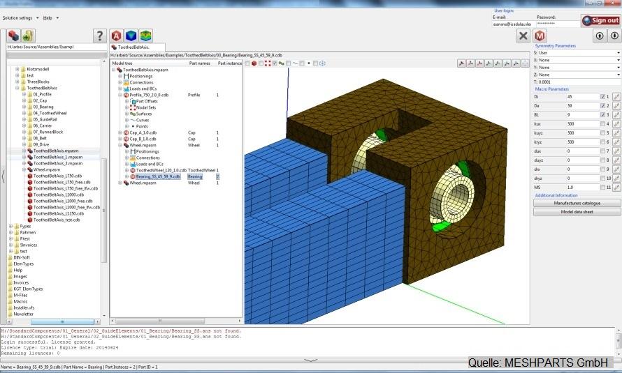 FEM-Modellierung eins Handlingsystems in Portalbauweise zum Einsatz in der Simuleering METASIMULATION
